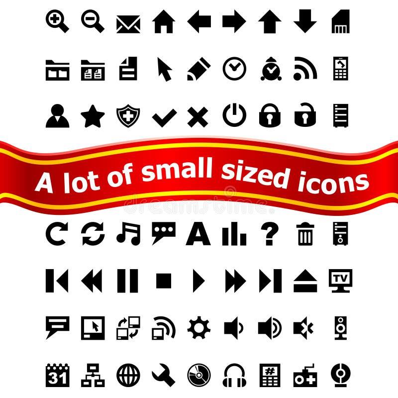 Insieme di piccole icone di Web royalty illustrazione gratis