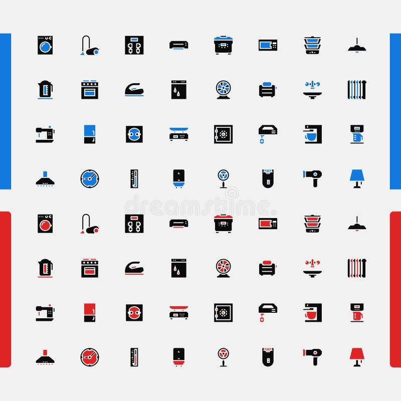 Insieme di piccole icone ENV 10 Prodotti elettronici di consumo Vettore illustrazione di stock
