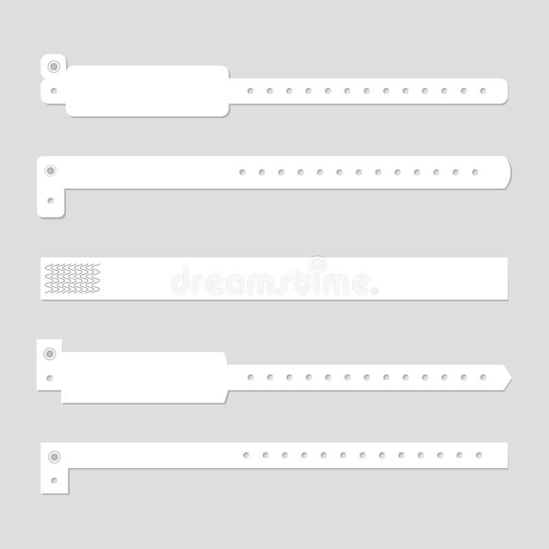 Insieme di polsino del braccialetto illustrazione di stock