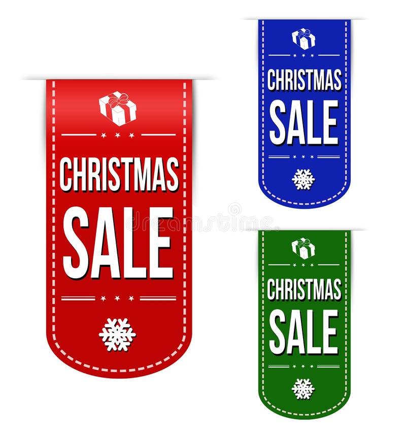 Insieme di progettazione dell'insegna di vendita di Natale illustrazione vettoriale