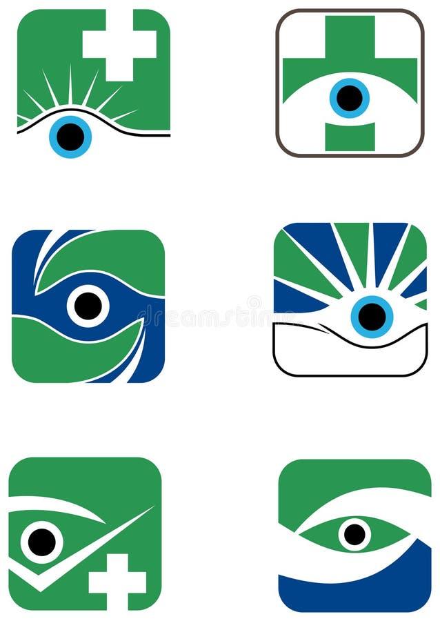 Insieme di progettazione di logo dell'occhio royalty illustrazione gratis