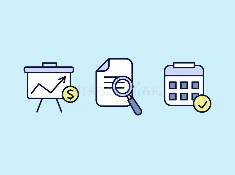 Insieme di progettazione piana delle icone di web per l'affare, la finanza e la comunicazione Illustrazione di vettore illustrazione vettoriale