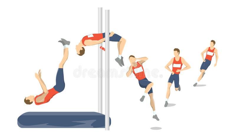 Insieme di salto in alto illustrazione vettoriale