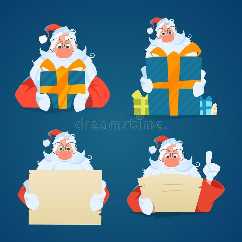 Insieme di Santa Claus immagini stock libere da diritti