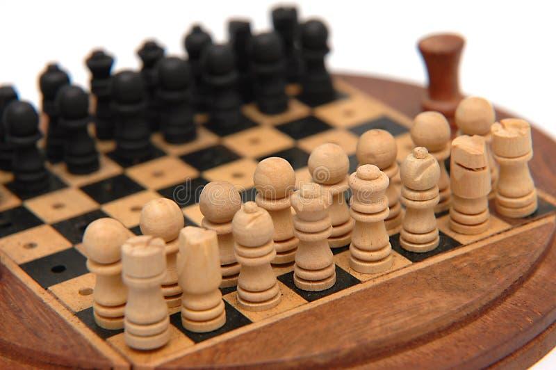 Insieme di scacchi 1 fotografia stock libera da diritti