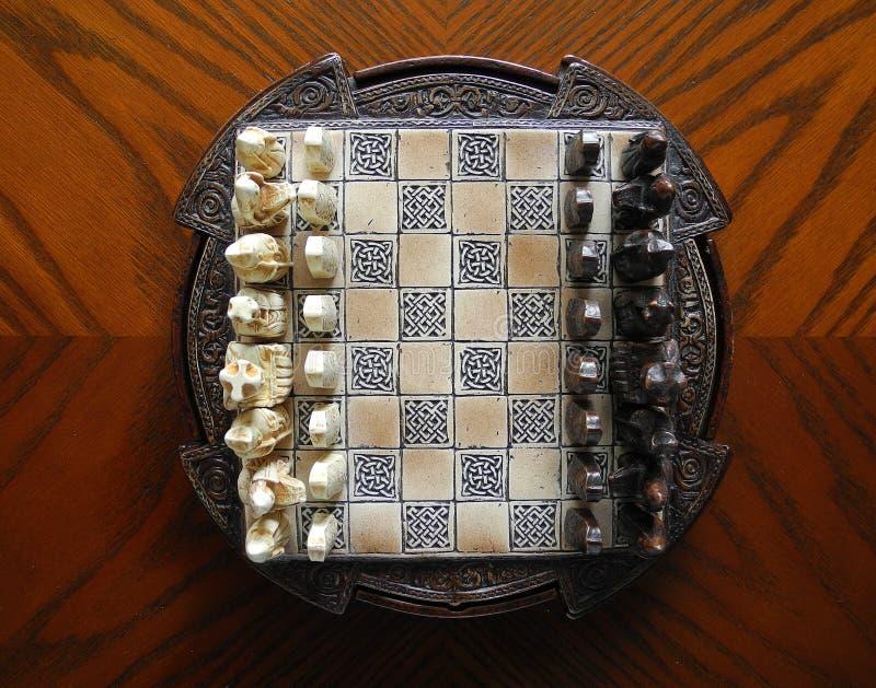 Insieme di scacchi, decorato, Lewis fotografia stock libera da diritti