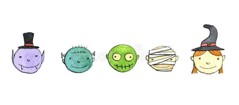 Insieme di scarabocchio di Halloween illustrazione vettoriale
