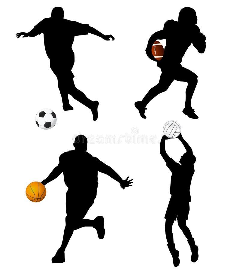 Insieme di sport illustrazione di stock