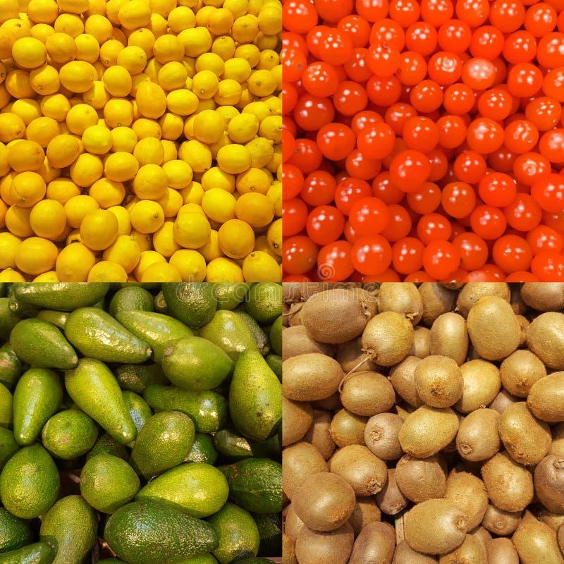 Insieme di struttura della frutta fresca immagini stock libere da diritti