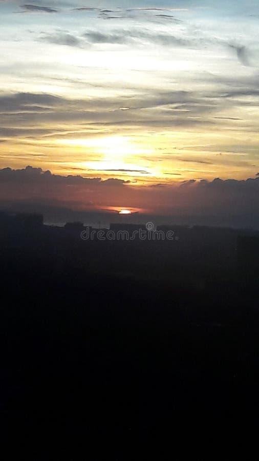 Insieme di Sun di vista da solo fotografia stock
