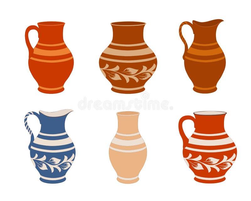Insieme di terrecotte ceramiche royalty illustrazione gratis