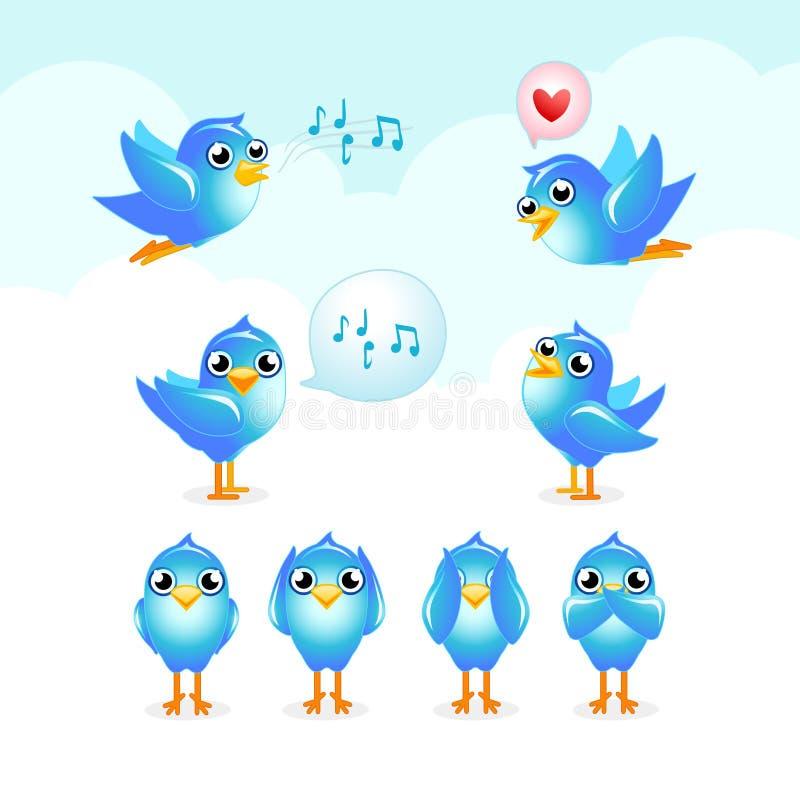Insieme di Tweet illustrazione vettoriale