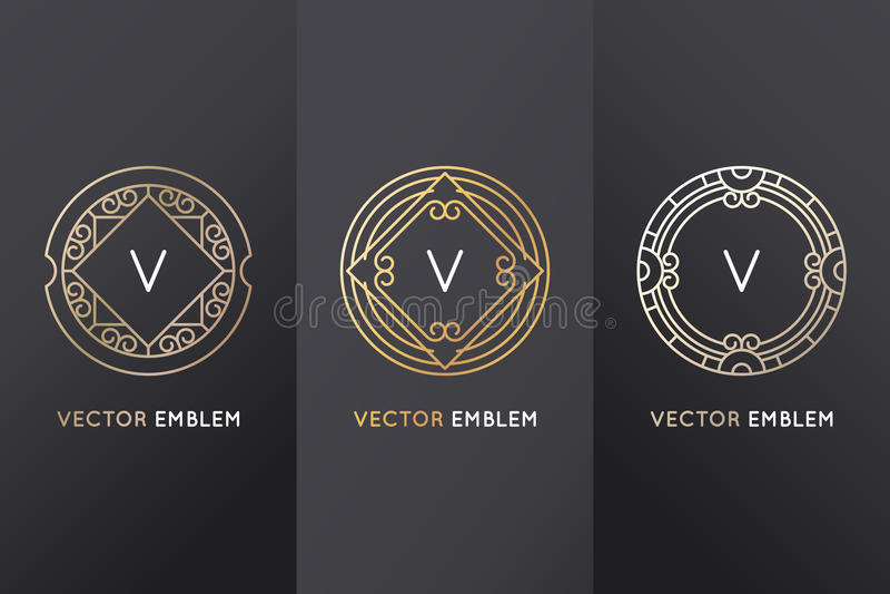 Insieme di vettore degli elementi e delle etichette di progettazione royalty illustrazione gratis