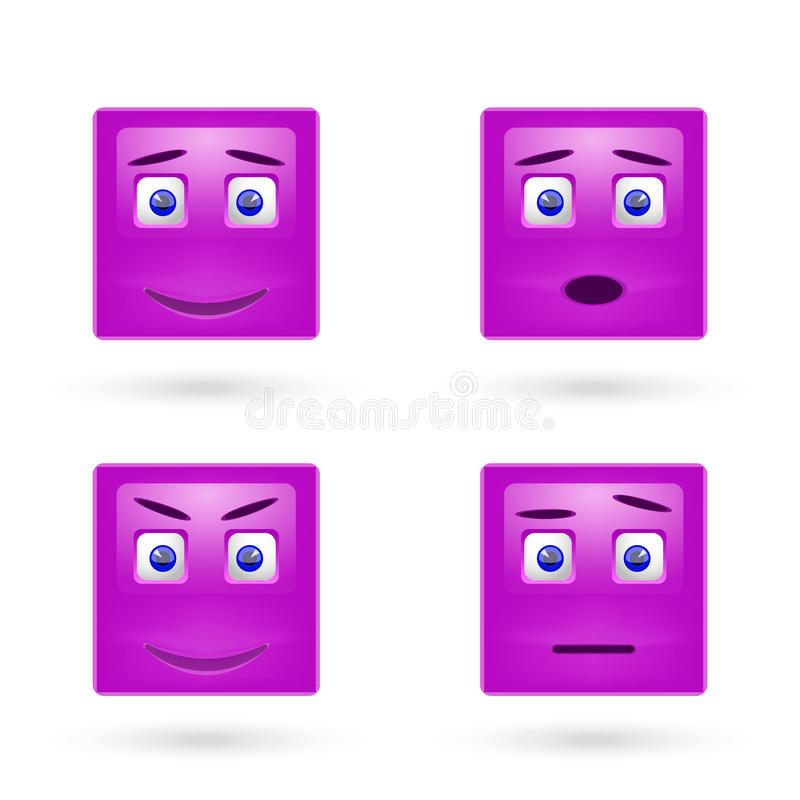 Insieme di vettore degli emoticon lucidi royalty illustrazione gratis