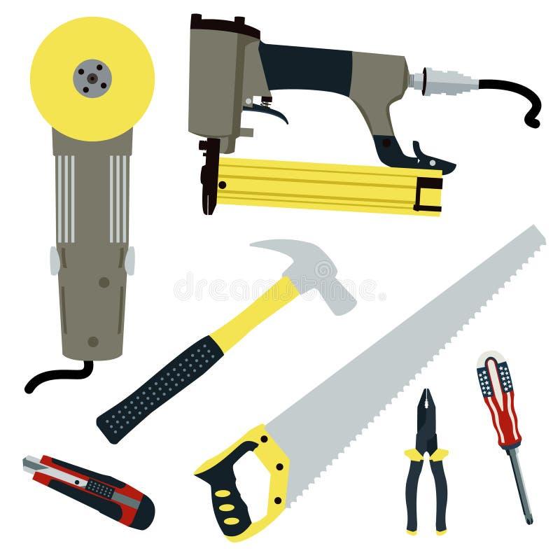 Insieme di vettore degli strumenti della costruzione e di riparazione royalty illustrazione gratis