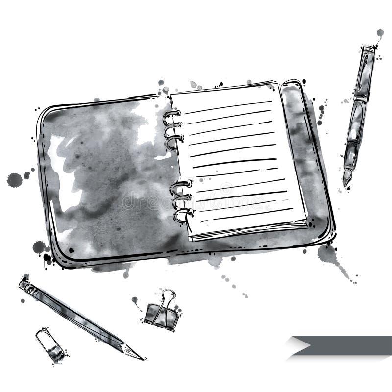 Insieme di vettore degli strumenti Isolato su fondo bianco illustrazione di stock