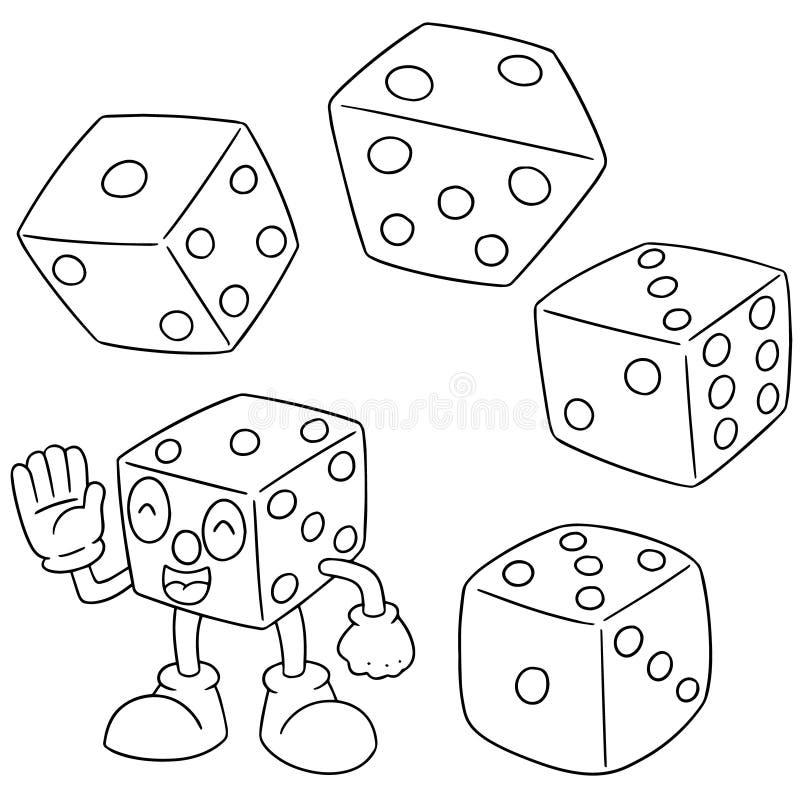 Insieme di vettore dei dadi illustrazione vettoriale