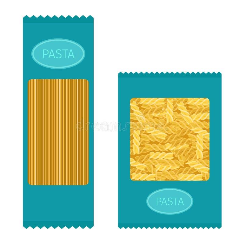 Insieme di vettore dei prodotti della pasta illustrazione vettoriale