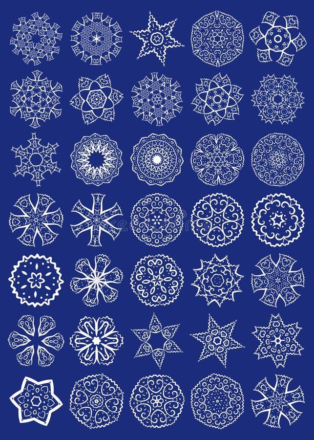 Insieme di vettore dei simboli sacri della geometria illustrazione di stock