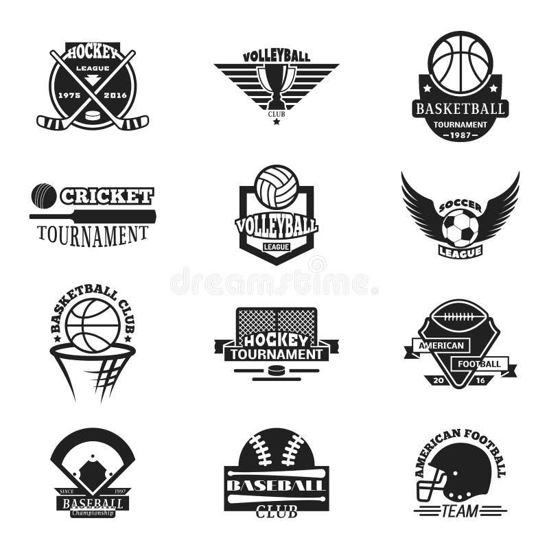 Insieme di vettore del distintivo dello sport di squadra royalty illustrazione gratis