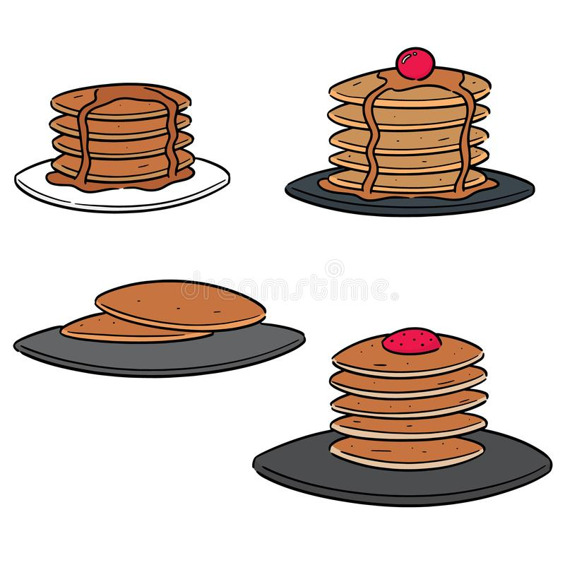 Insieme di vettore del pancake illustrazione di stock