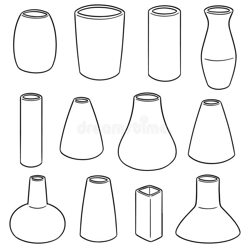 Insieme di vettore del vaso illustrazione vettoriale