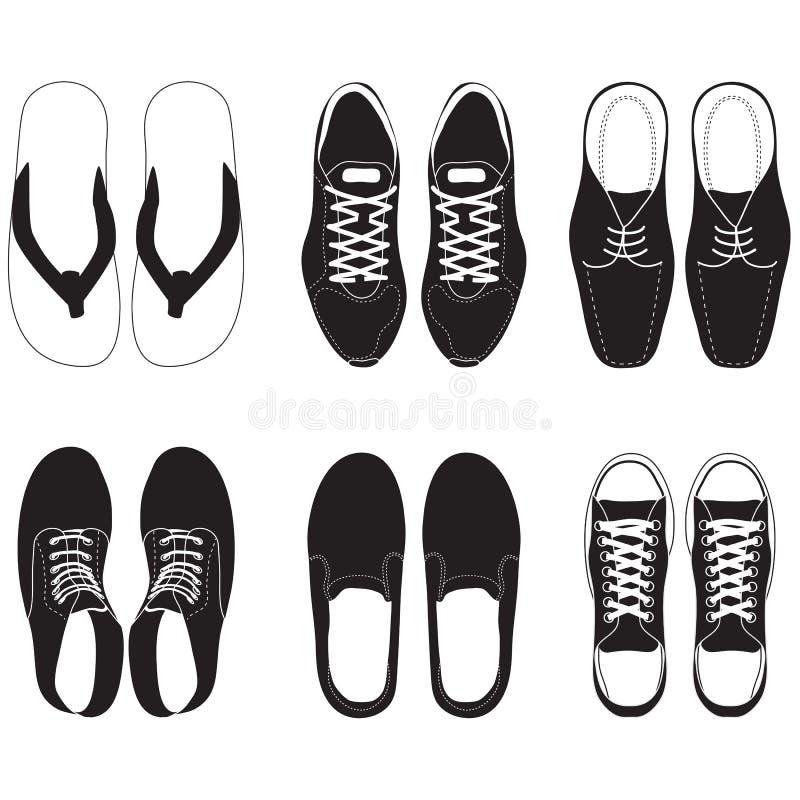 insieme di vettore della scarpa illustrazione di stock