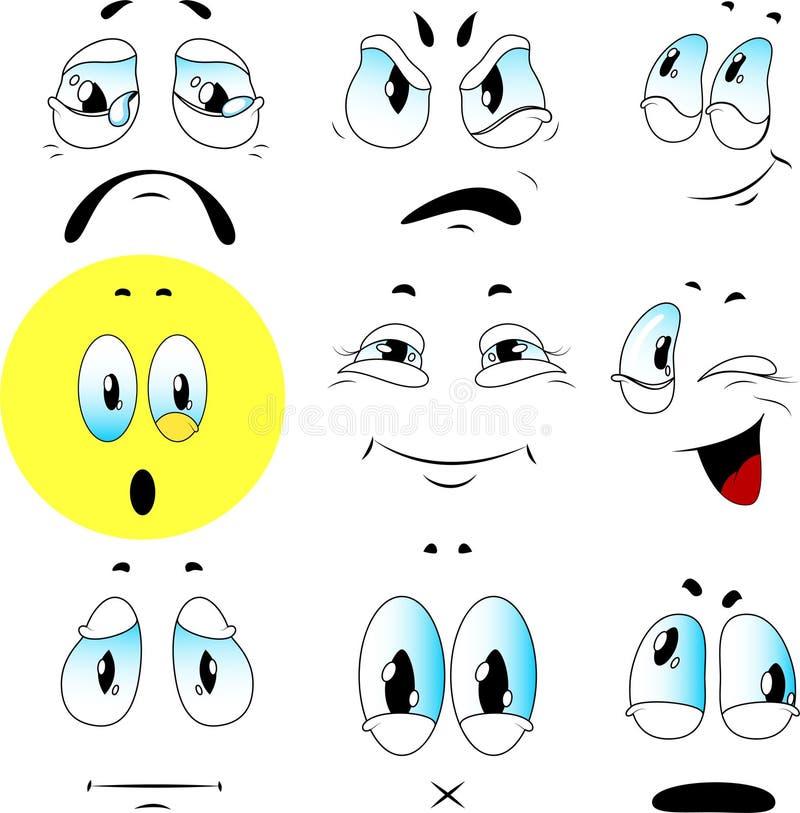 Insieme di vettore delle emozioni illustrazione vettoriale