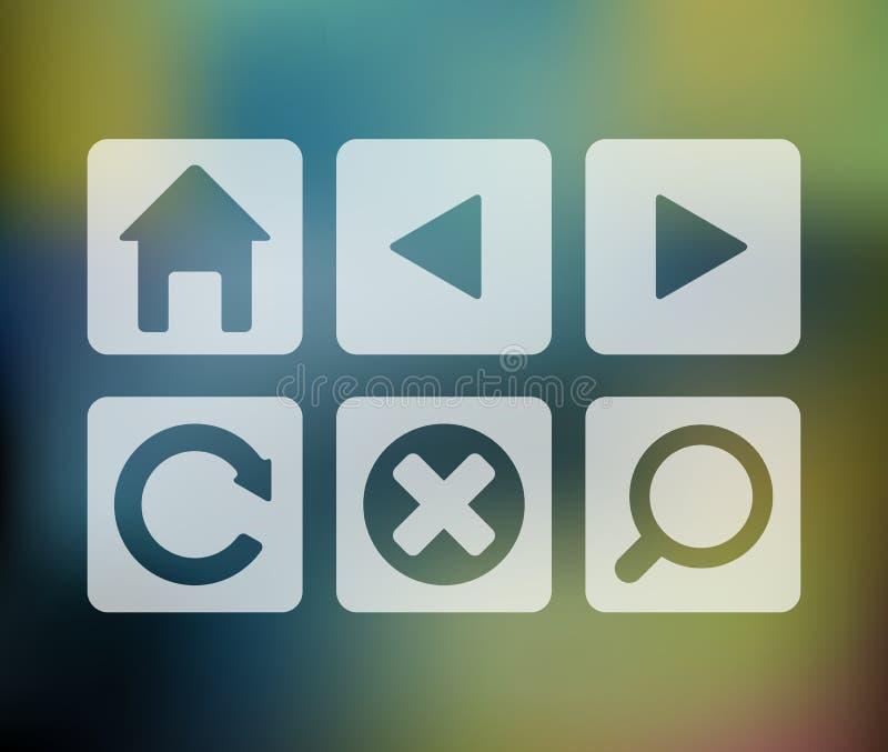 Insieme di vettore delle icone del browser royalty illustrazione gratis