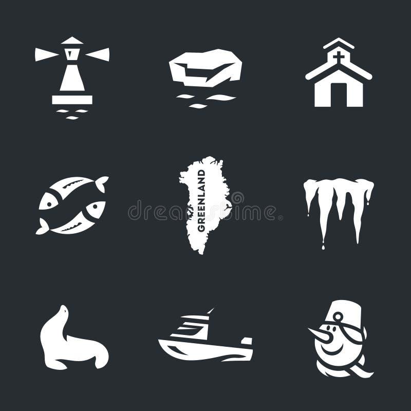 Insieme di vettore delle icone della Groenlandia illustrazione di stock