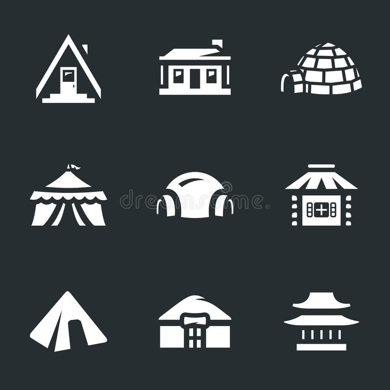 Insieme di vettore delle icone delle costruzioni illustrazione vettoriale