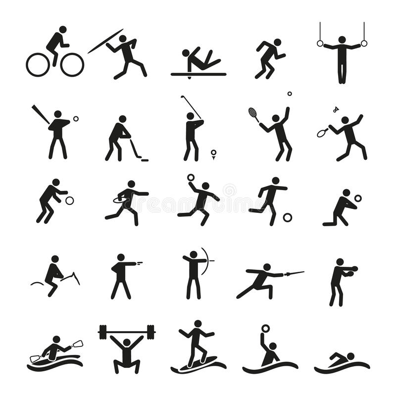 Insieme di vettore delle icone di sport royalty illustrazione gratis
