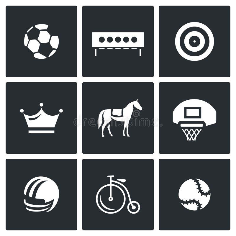 Insieme di vettore delle icone di sport illustrazione vettoriale