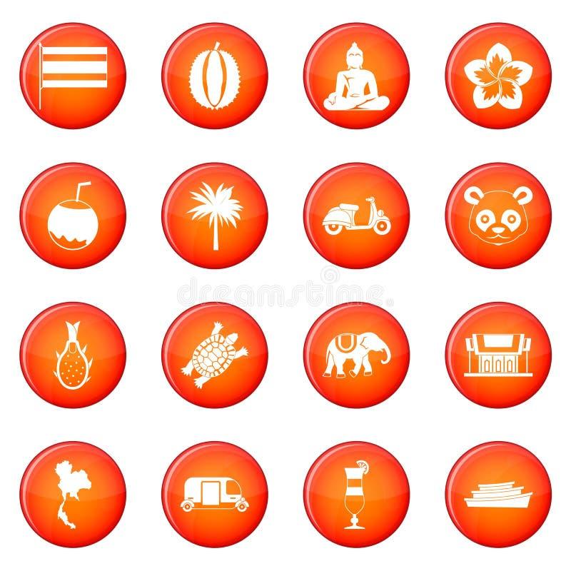 Insieme di vettore delle icone di Taiwan illustrazione vettoriale