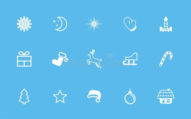 Insieme di vettore delle icone di natale illustrazione di stock