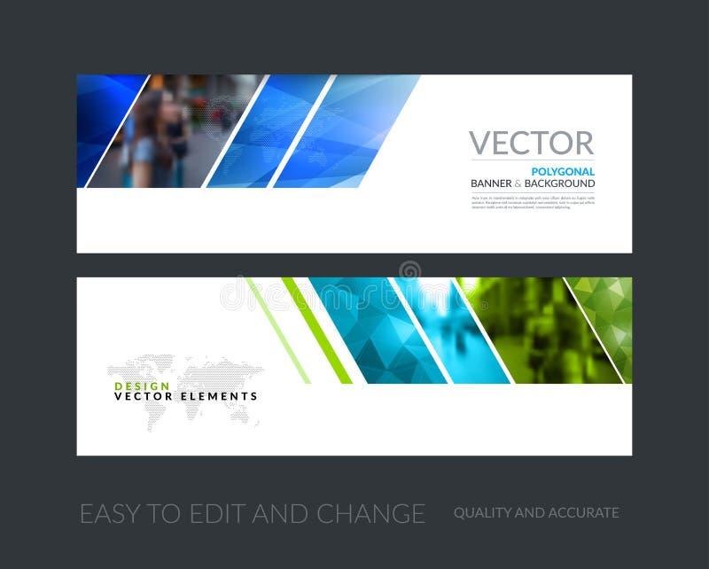 Insieme di vettore delle insegne orizzontali moderne del sito Web con il g colourful illustrazione di stock