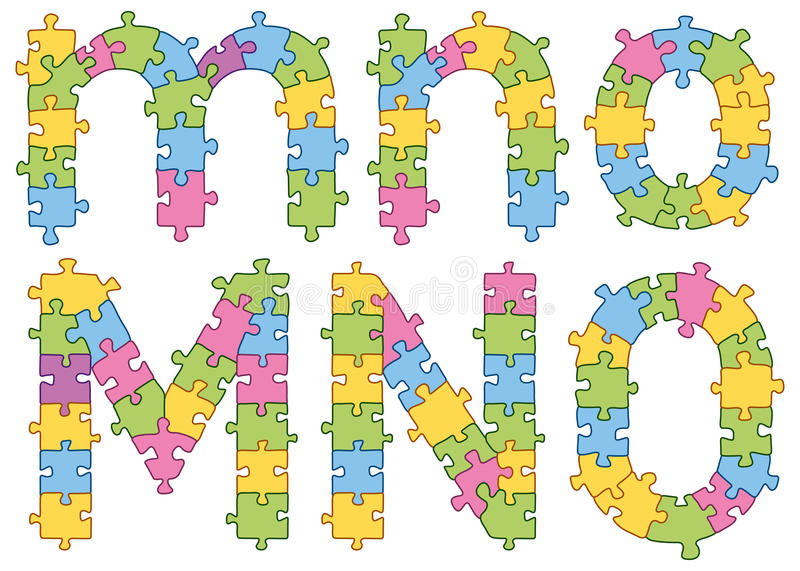 Lettere di alfabeto del puzzle di puzzle royalty illustrazione gratis