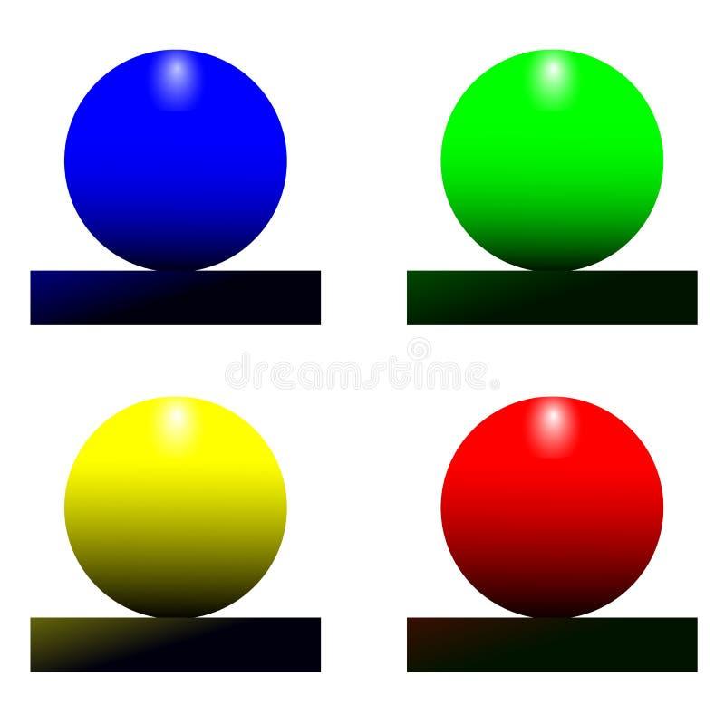 Insieme di vettore delle palle colorate vettore, progettazione, simbolo, illustrazione, brillante, elemento, web royalty illustrazione gratis