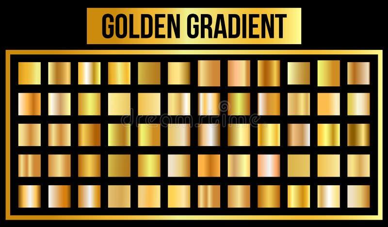 Insieme di vettore delle pendenze dorate La pendenza di oro, il modello è di facile impiego nel loro lavoro Illustrazione di vett illustrazione vettoriale