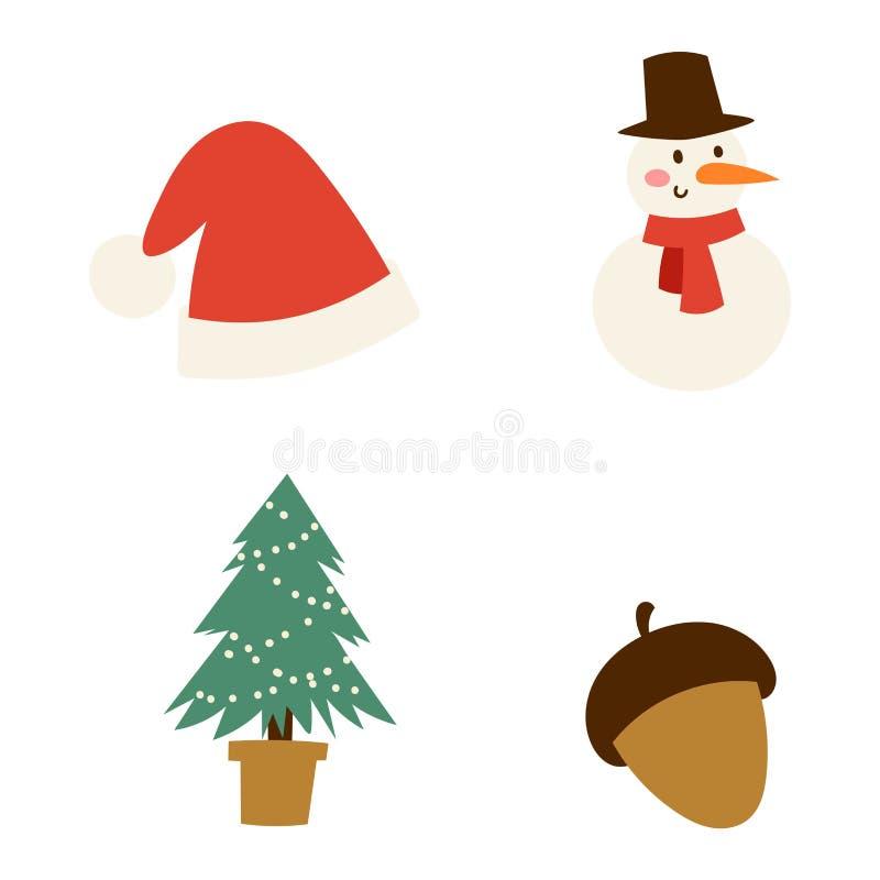 Insieme di vettore di simboli delle icone di Natale illustrazione vettoriale
