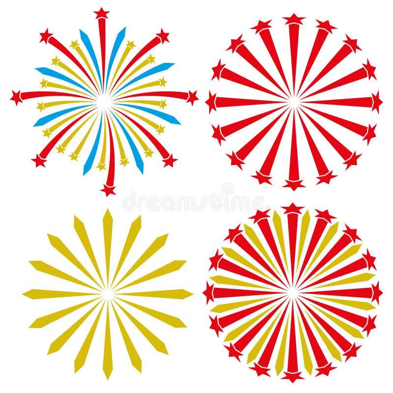 Insieme di vettore firework illustrazione vettoriale