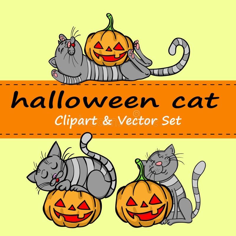 Insieme di vettore di Halloween fotografie stock libere da diritti