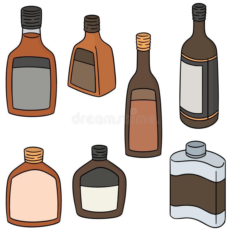 Insieme di vettore di liquore illustrazione di stock