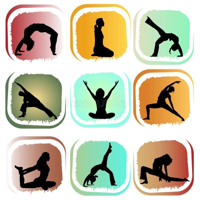 Insieme di yoga royalty illustrazione gratis