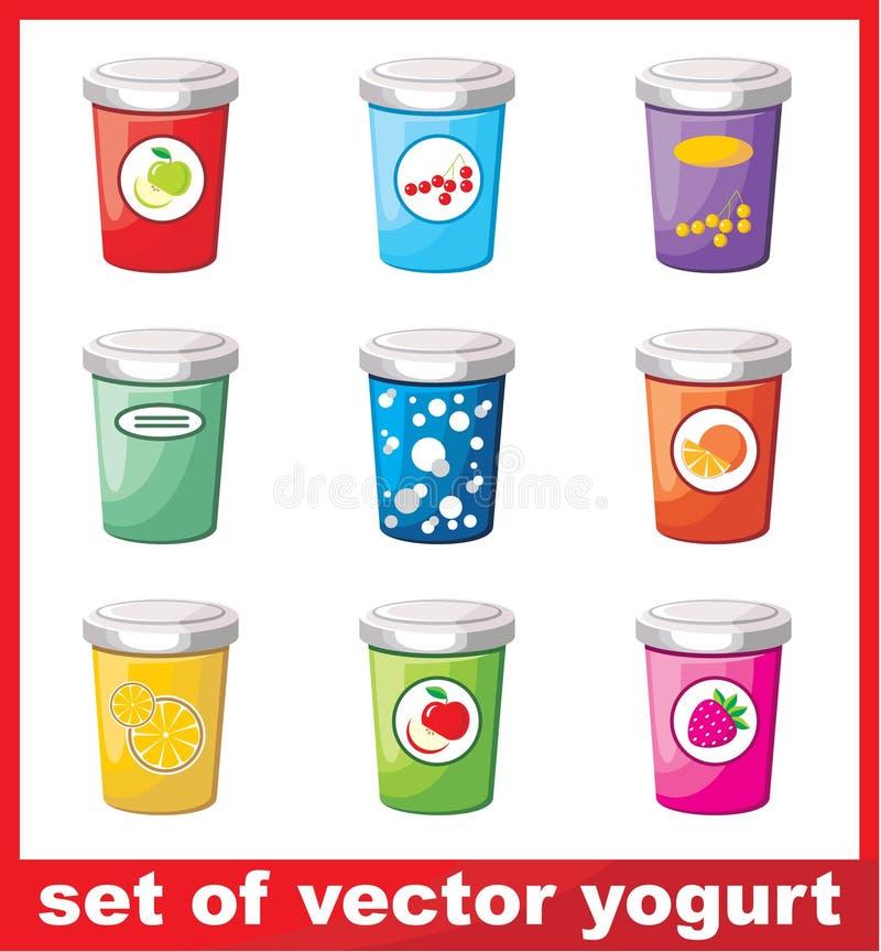 Insieme di yogurt royalty illustrazione gratis