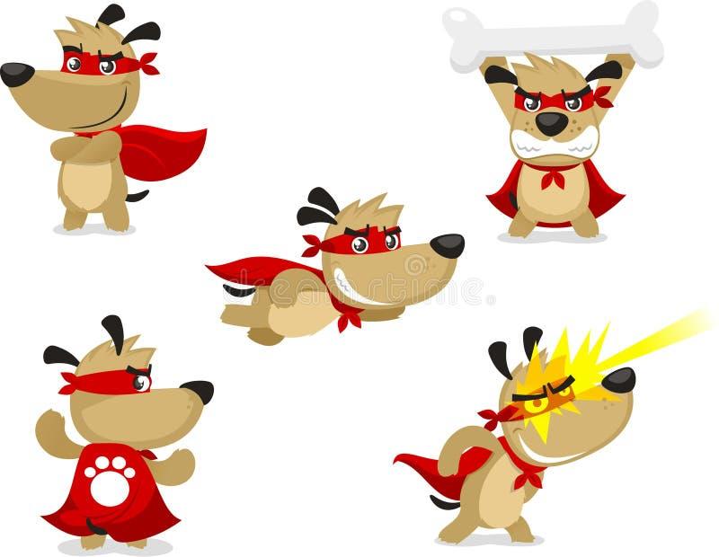 Insieme eccellente del cane del fumetto illustrazione vettoriale