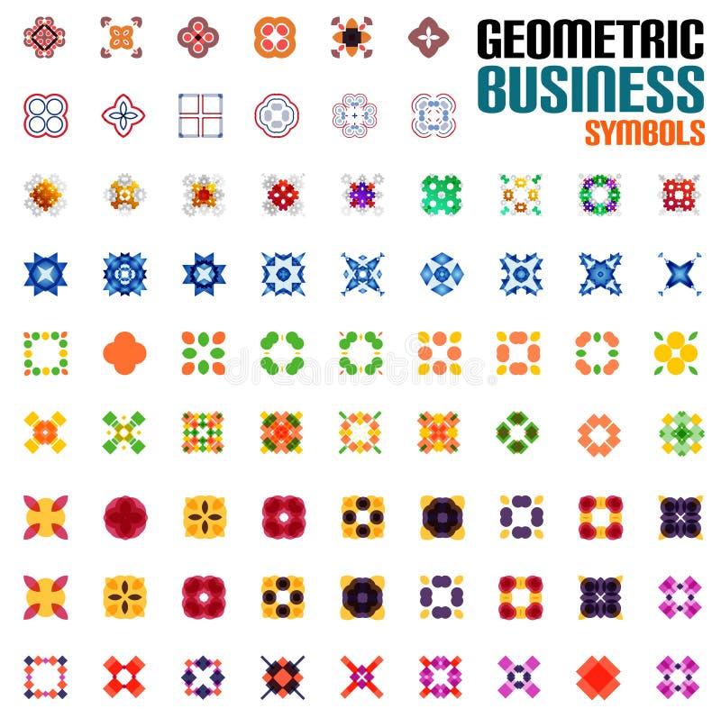 Insieme enorme dei simboli di affari - forme geometriche royalty illustrazione gratis