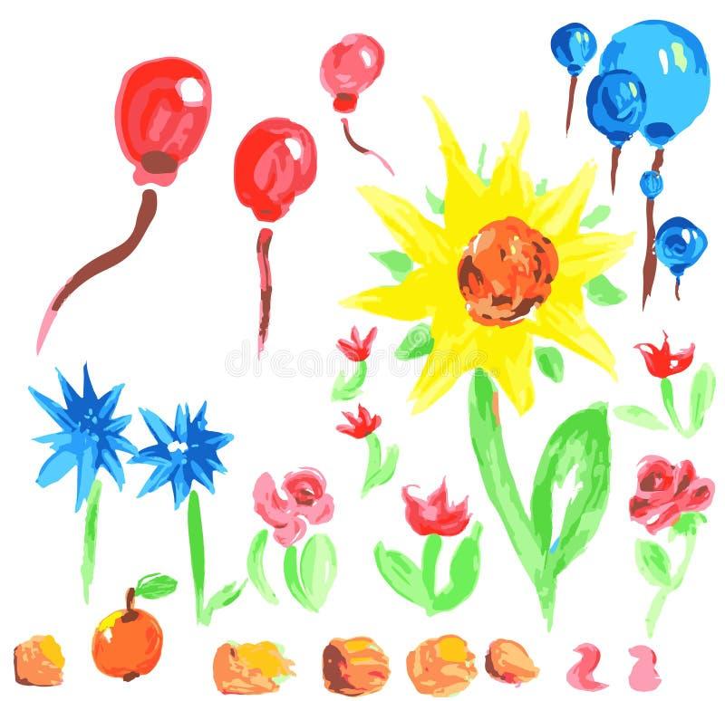 Insieme floreale di vettore illustrazione vettoriale