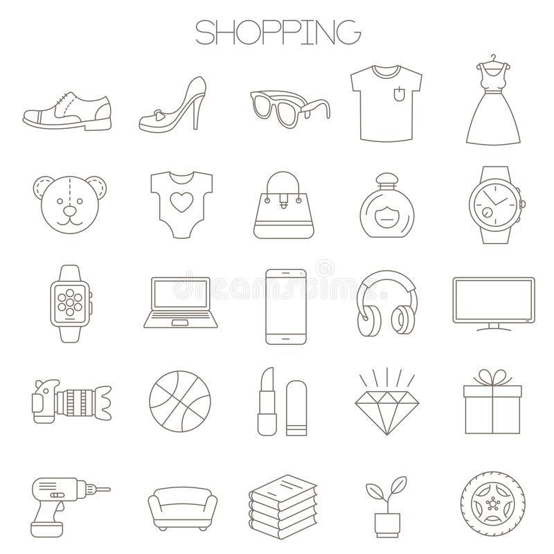 insieme fradicio dell'icona del deposito online royalty illustrazione gratis