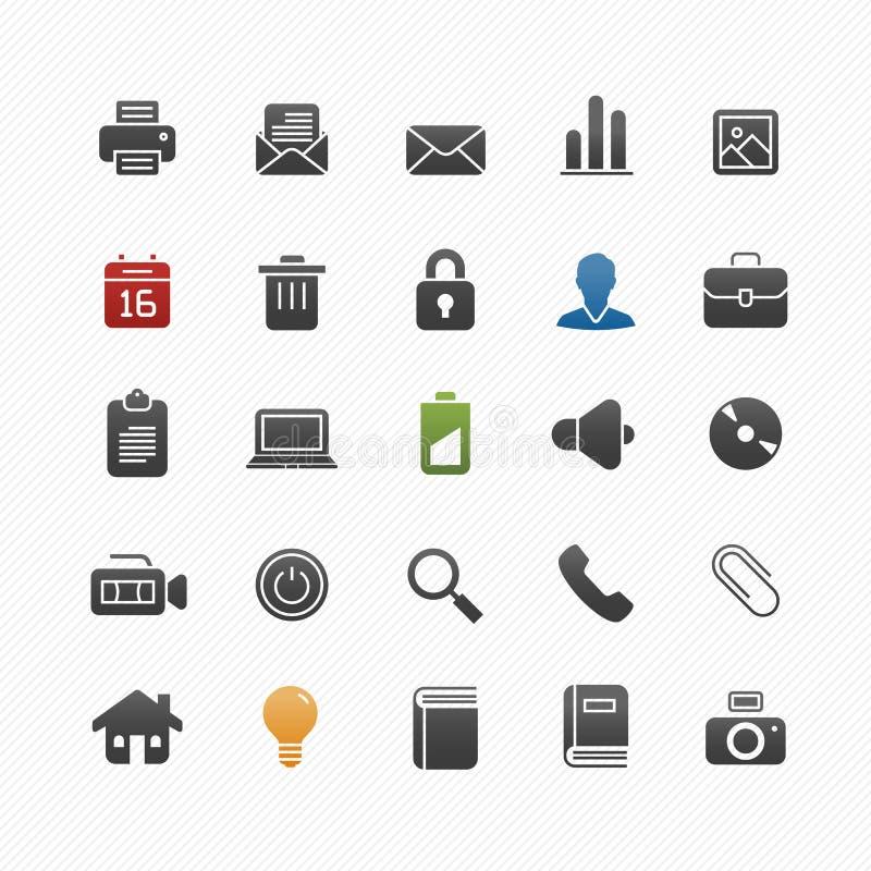 Insieme generico dell'icona di simbolo di vettore illustrazione di stock
